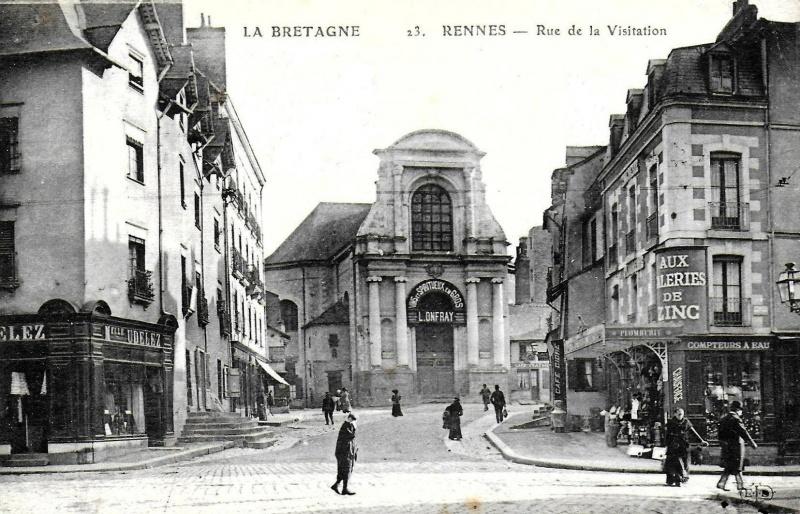 Le couvent des Visitandines dans la rue de la visitation
