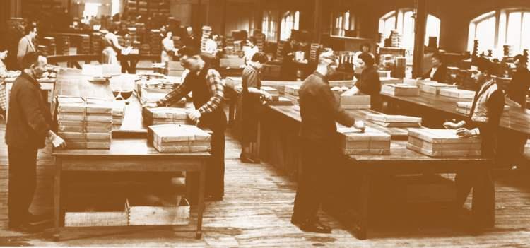 fabrication et expédition des almanachs des postes a Oberthur